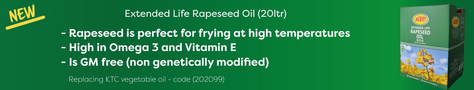 Extended Life Rapeseed Oil