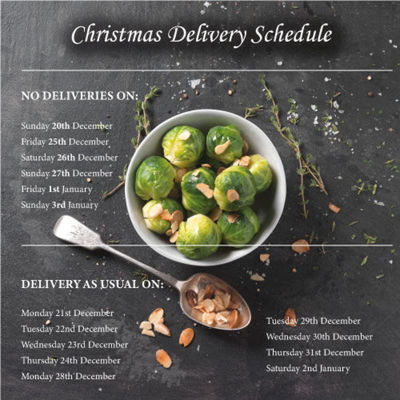 Christmas 2020 Delivery Schedule