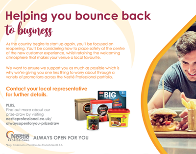 Nestle – Helping You Bounce Back To Business