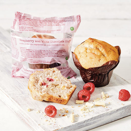 Picture of Raspberry & White Chocolate Muffins (24)