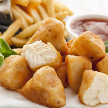 Picture of Fully Cooked Battered Chicken Breast Chunks (2kg)
