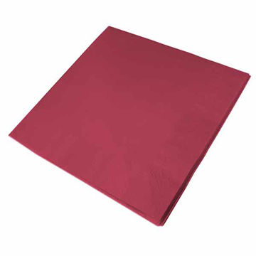 Picture of 40cm/3 Ply Burgundy Napkins (10x100)