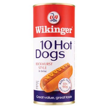 """Picture of Wikinger Jumbo 7 3/4"""" Hot Dogs (6x1.65kg)"""