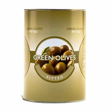 Picture of Whole Green Pitted Olives (3x4.25kg)