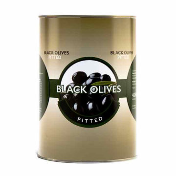 Picture of Whole Black Pitted Olives (3x4.25kg)
