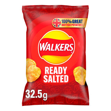 Picture of Walkers Ready Salted Crisps (32x32.5g)