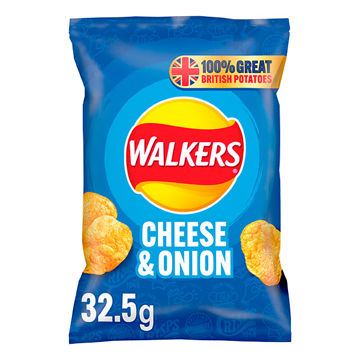 Picture of Walkers Cheese & Onion Crisps (32x32.5g)