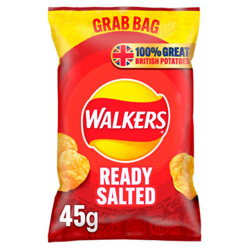 Picture of Walkers Ready Salted Crisps (32x45g)