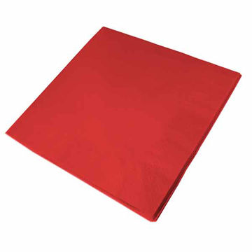 Picture of 33cm/2 ply Red Napkins (20x100)