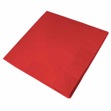 Picture of 40cm/2 ply Red Napkins (16x125)