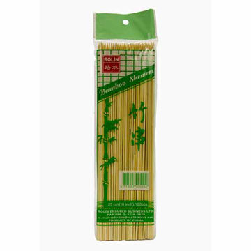 """Picture of Rolin Bamboo Skewers 10"""" (100)"""