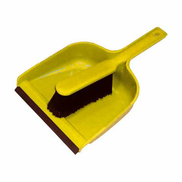 Picture of Dust Pan & Brush Set (Soft) Yellow (24)