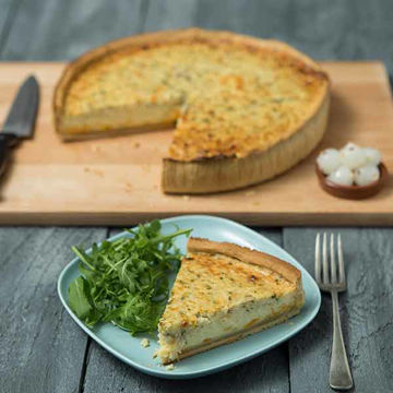 Picture of Cheddar & Red Leicester Quiche (6x10inch)
