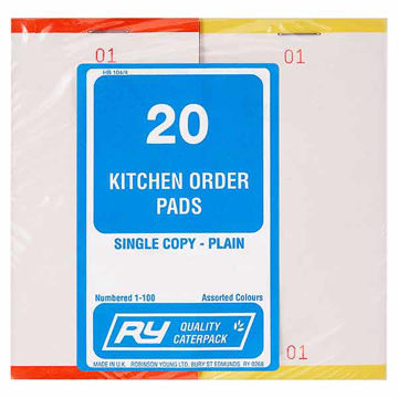 Picture of Plain Kitchen Order Pads (20x20)