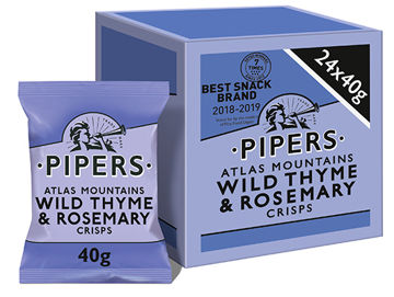 Picture of Atlas Mountains Wild Thyme & Rosemary Crisps (24x40g)